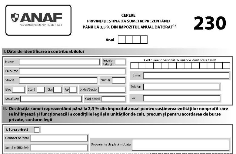 Declaratia 230 in 2021 (Ordinul nr. 15/2021). ANAF a actualizat PDF-ul inteligent