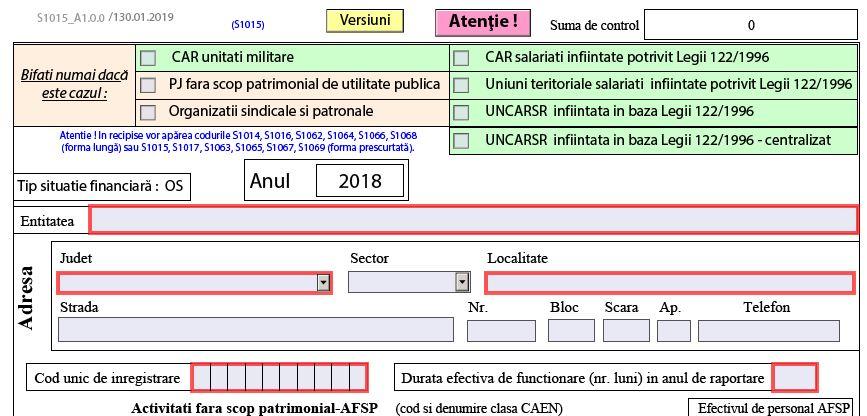 Bilant contabil pentru 2018. ANAF a publicat PDF-ul inteligent - anul fiscal 2019