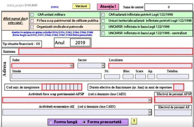 Bilant contabil pentru 2019. ANAF a publicat PDF-ul inteligent - anul fiscal 2020