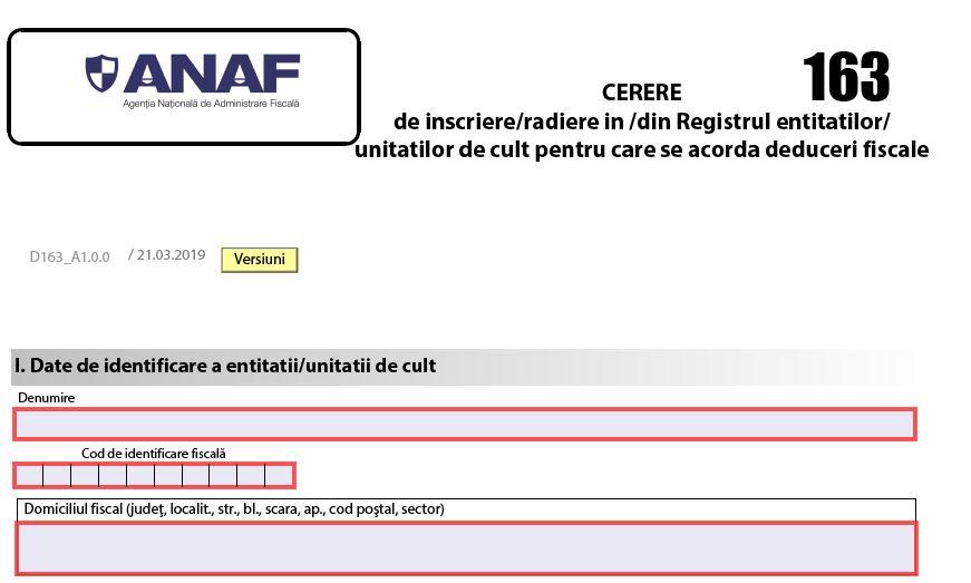 Cum se face inscrierea in Registrul entitatilor pentru care se acorda deduceri fiscale?