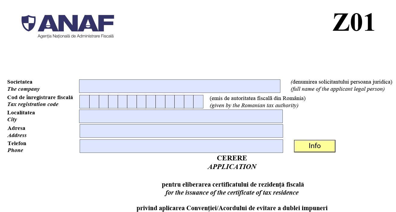 Modalitati de transmitere a cererilor pentru eliberarea certificatului de rezidenta fiscala