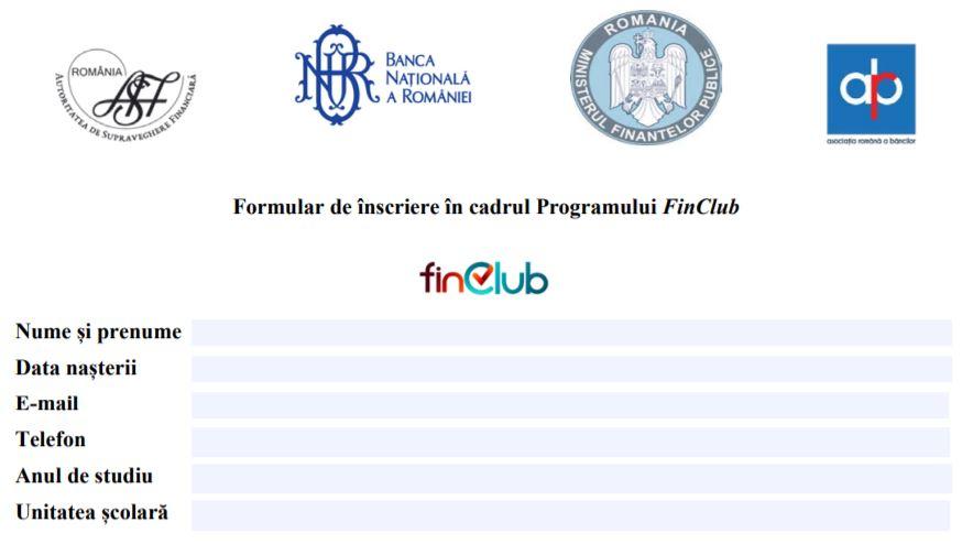 Club online de educatie financiara pentru liceeni. Au inceput inscrierile!