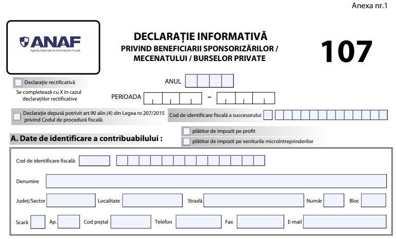 Declaratia 107 a fost publicata in Monitorul Oficial. Ce obligatii au firmele care fac sponsorizari?