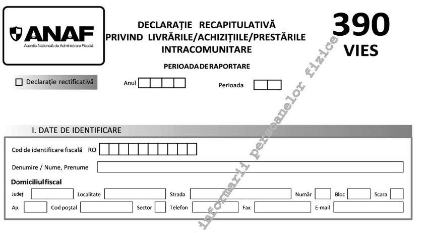 OPANAF nr. 705/2020: se modifica formularul 390. Care sunt noile obligatii?