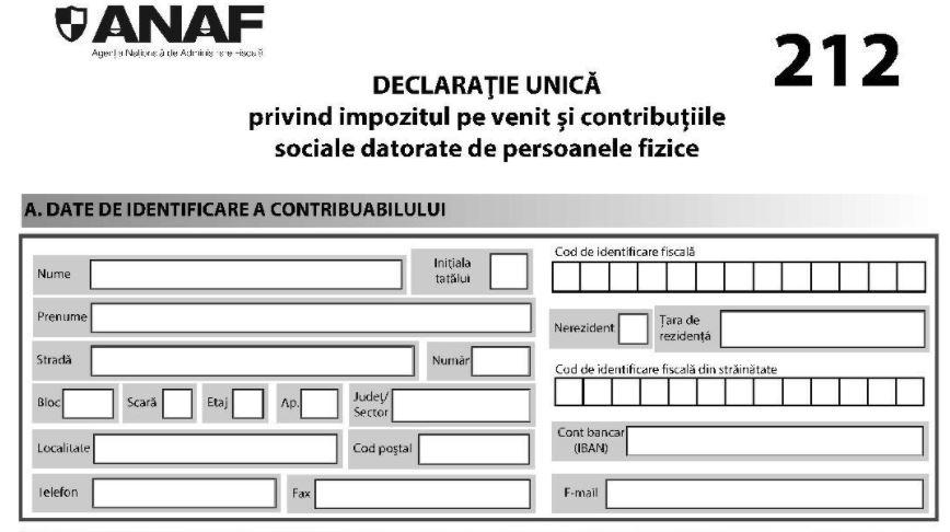 Declaratia unica 2021. Modificarile propuse de ANAF sunt in Monitor