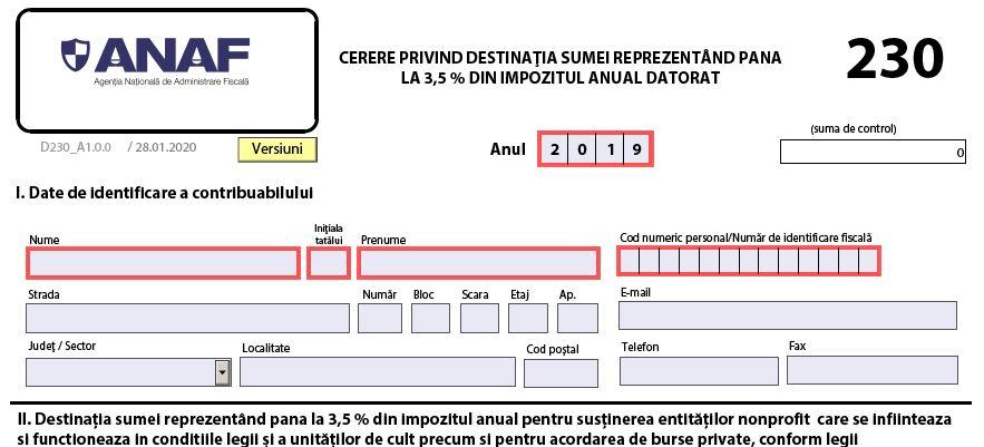 OFICIAL Ordinul 936/2020 - ANAF NU va trimite notificarea privind destinatia unei sume din impozitul anual, in contextul coronavirusului