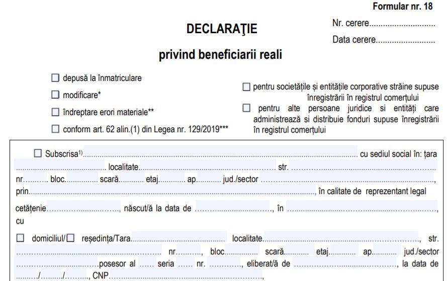 Claudiu Nasui: Revine declaratia inutila de beneficiar real. Sunt ingrijorari de infringement