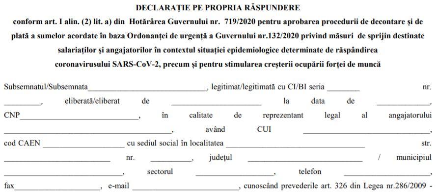 Formularele necesare angajatorilor pentru obtinerea ajutorului de la stat, in dezbatere publica (OUG 132/2020)