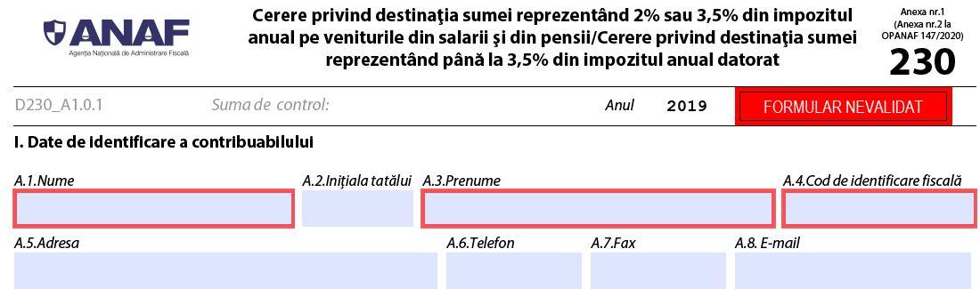 Este in Monitor: Depunerea Declaratiei 230 pentru redirectionarea unui procent din impozit poate fi facuta pana la 30 iunie