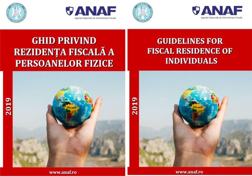 Ghidul privind rezidenta fiscala a persoanelor fizice si in limba engleza, lansat de ANAF
