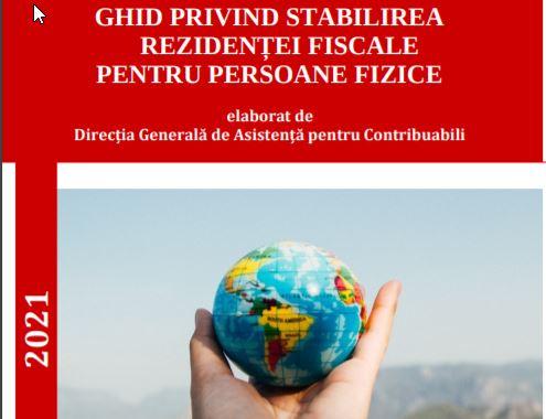 Un nou ghid ANAF - Stabilirea rezidentei fiscale pentru persoanele fizice