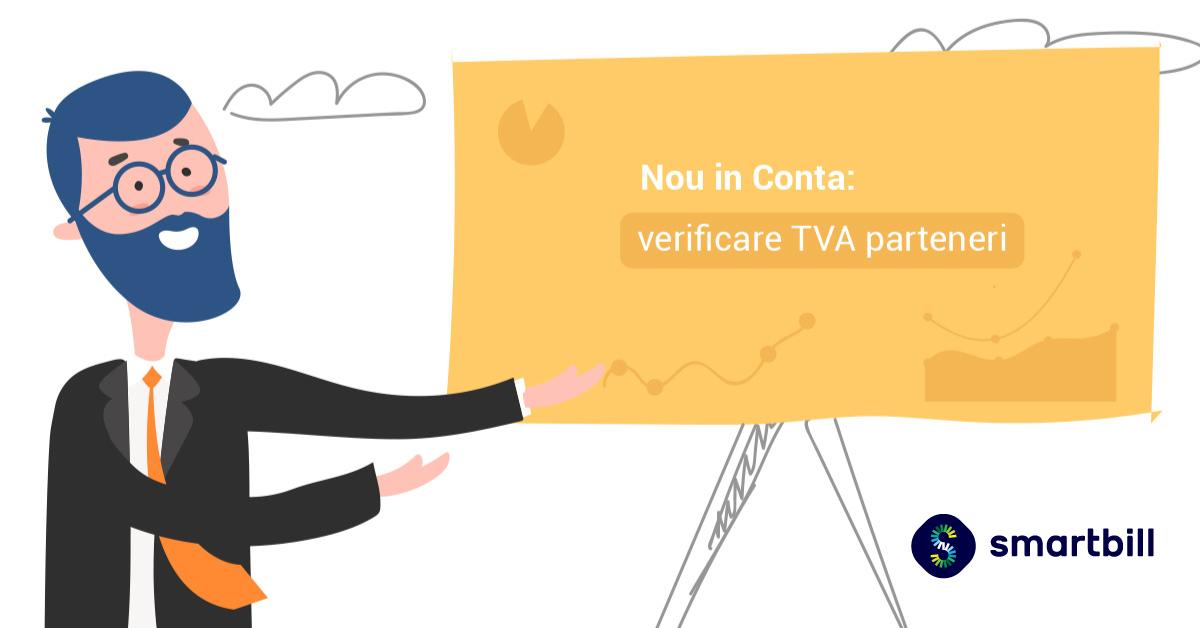 SmartBill Conta - Verificarea partenerilor din perspectiva TVA