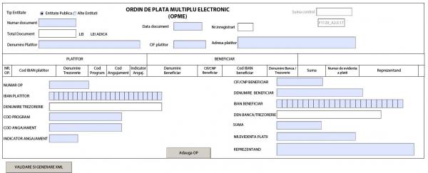 Ordinul de plata multiplu electronic 2021. Formularul F1129 a fost actualizat din nou
