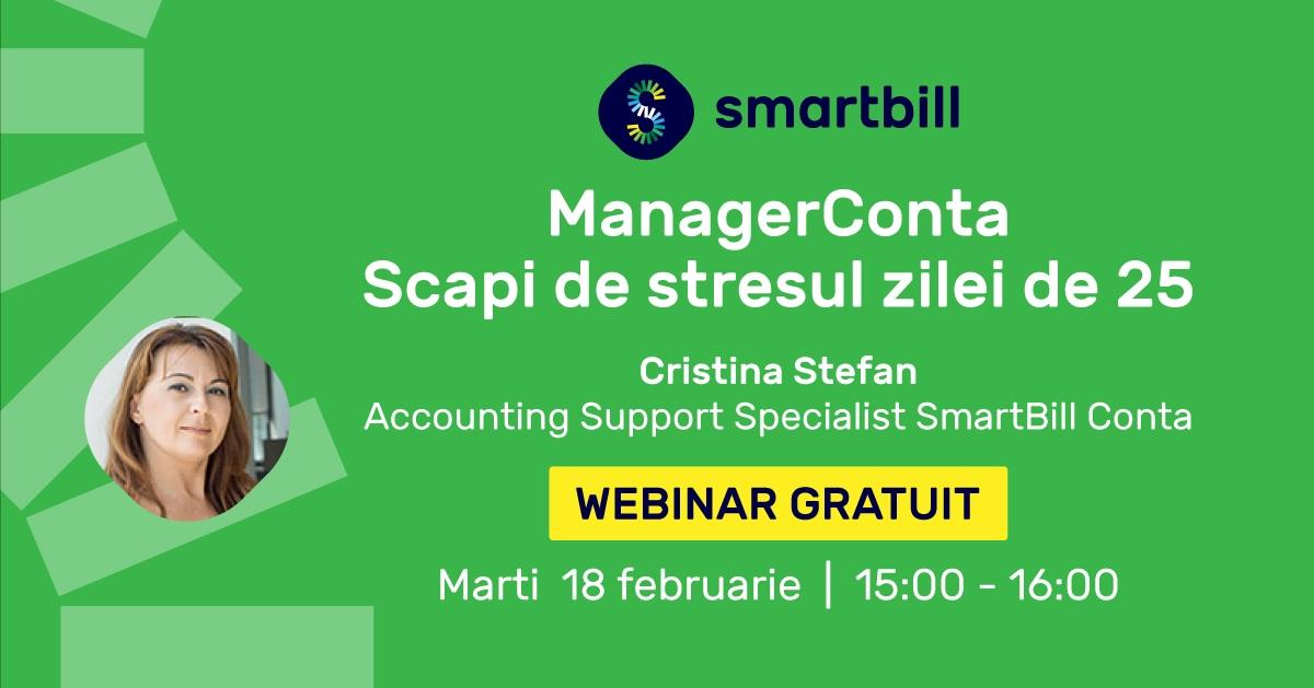 SmartBill va invita la webinar ManagerConta! Gratuit si cu adevarat util contabililor!