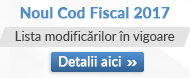 Consilier Noul Cod Fiscal 2017