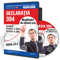 Declaratia 394 - Modificari de ultima ora