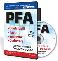 PFA. Contributii, Taxe, Impozite si Deduceri. Conform modificarilor Codului Fiscal 2018